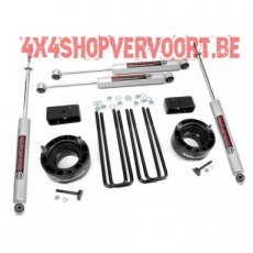 "Rough Country 2.5"" Lift Kit voor Dodge RAM 1500 4WD (94-01)."
