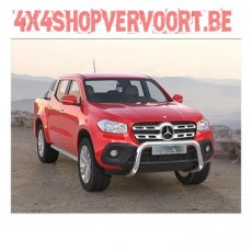 Bullbar with crosspipe Inox for X-class